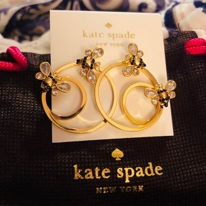 Kate Spade NWT Gold Picnic Perfect Hoop Earrings